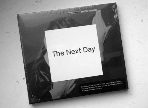 Bowie's new album in old-school plastic.