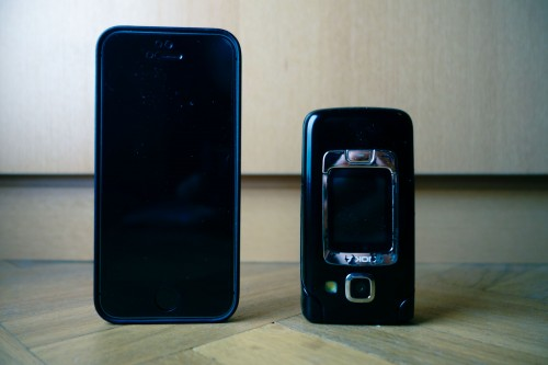 My old clamshell symbian phone retires and replaced by the monolith iPhone.