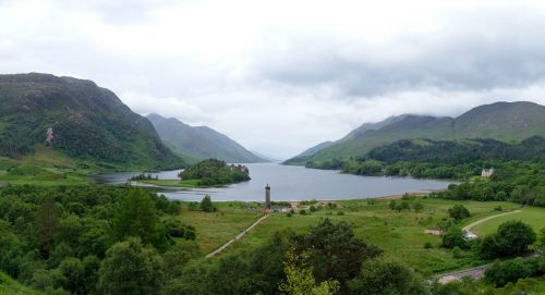 A piece of Scotland scenery. Too lazy to dig up the name of the place, some important battle happened here at least.