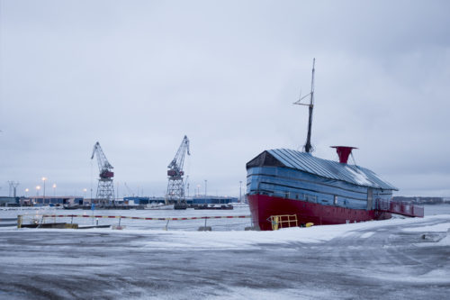 I got restless and found myself wandering around the Kotka harbour at some point.